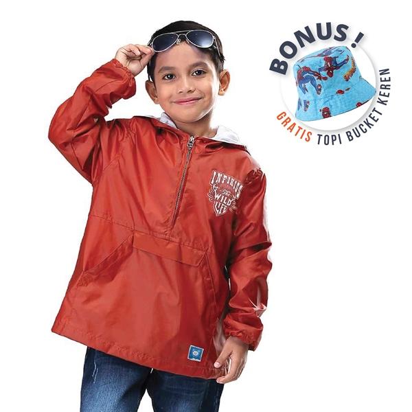 Jaket Anak Laki-laki Booko Kids IYN 876 Bonus Bucket Hat