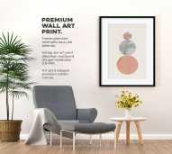 Wall Art Canvas Print Abstract Ukuran 30 x 40 cm