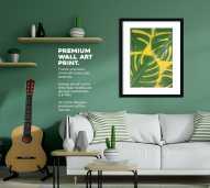 "Wall Art Canvas Print ""Floral"" Ukuran 30 x 40 cm"